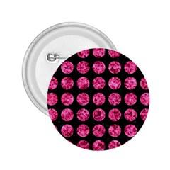 CIR1 BK-PK MARBLE 2.25  Buttons