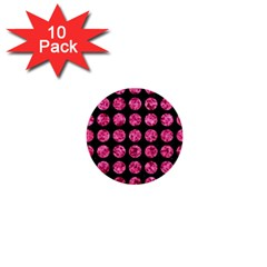 CIR1 BK-PK MARBLE 1  Mini Buttons (10 pack)