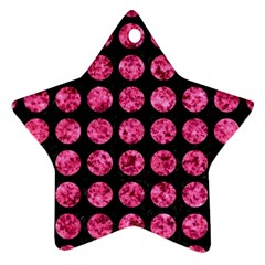 CIR1 BK-PK MARBLE Star Ornament (Two Sides)