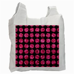 CIR1 BK-PK MARBLE Recycle Bag (One Side)