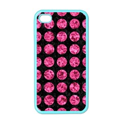 CIR1 BK-PK MARBLE Apple iPhone 4 Case (Color)