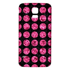Circles1 Black Marble & Pink Marble Samsung Galaxy S5 Back Case (white)