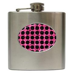 CIR1 BK-PK MARBLE (R) Hip Flask (6 oz)
