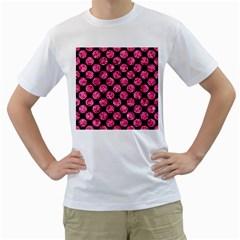 CIR2 BK-PK MARBLE Men s T-Shirt (White) (Two Sided)