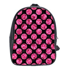 CIR2 BK-PK MARBLE School Bags(Large)