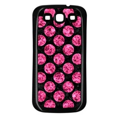 CIR2 BK-PK MARBLE Samsung Galaxy S3 Back Case (Black)