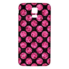 Circles2 Black Marble & Pink Marble Samsung Galaxy S5 Back Case (white)