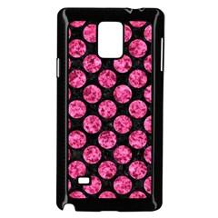 CIR2 BK-PK MARBLE Samsung Galaxy Note 4 Case (Black)