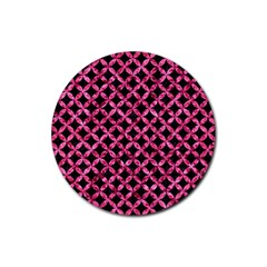 CIR3 BK-PK MARBLE Rubber Round Coaster (4 pack)