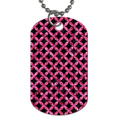 Circles3 Black Marble & Pink Marble Dog Tag (one Side)