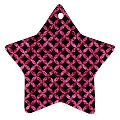 CIR3 BK-PK MARBLE Star Ornament (Two Sides)