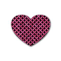 CIR3 BK-PK MARBLE Rubber Coaster (Heart)