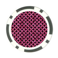 Circles3 Black Marble & Pink Marble Poker Chip Card Guard (10 Pack)