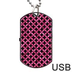 CIR3 BK-PK MARBLE Dog Tag USB Flash (One Side)