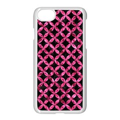 Circles3 Black Marble & Pink Marble Apple Iphone 7 Seamless Case (white)