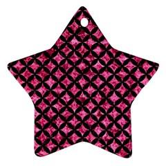 CIR3 BK-PK MARBLE (R) Ornament (Star)