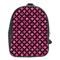 CIR3 BK-PK MARBLE (R) School Bags(Large)