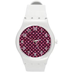 CIR3 BK-PK MARBLE (R) Round Plastic Sport Watch (M)