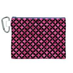 CIR3 BK-PK MARBLE (R) Canvas Cosmetic Bag (XL)