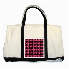 DIA1 BK-PK MARBLE Two Tone Tote Bag