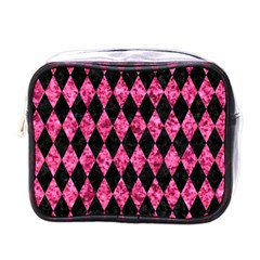 DIA1 BK-PK MARBLE Mini Toiletries Bags