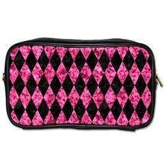 DIA1 BK-PK MARBLE Toiletries Bags 2-Side