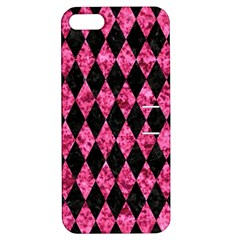 DIA1 BK-PK MARBLE Apple iPhone 5 Hardshell Case with Stand