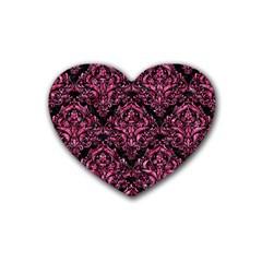 DMS1 BK-PK MARBLE Heart Coaster (4 pack)