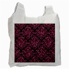 DMS1 BK-PK MARBLE Recycle Bag (Two Side)