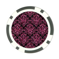 Damask1 Black Marble & Pink Marble Poker Chip Card Guard (10 Pack)