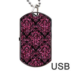 DMS1 BK-PK MARBLE Dog Tag USB Flash (Two Sides)