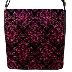 DMS1 BK-PK MARBLE Flap Messenger Bag (S)