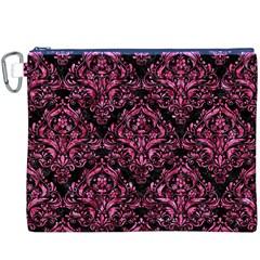 DMS1 BK-PK MARBLE Canvas Cosmetic Bag (XXXL)