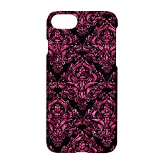 Damask1 Black Marble & Pink Marble Apple Iphone 7 Hardshell Case