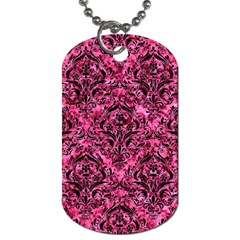 DMS1 BK-PK MARBLE (R) Dog Tag (Two Sides)