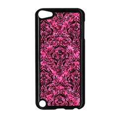 Damask1 Black Marble & Pink Marble (r) Apple Ipod Touch 5 Case (black)