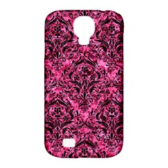 DMS1 BK-PK MARBLE (R) Samsung Galaxy S4 Classic Hardshell Case (PC+Silicone)
