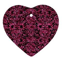 DMS2 BK-PK MARBLE Ornament (Heart)