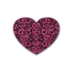 DMS2 BK-PK MARBLE Rubber Coaster (Heart)