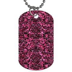 DMS2 BK-PK MARBLE (R) Dog Tag (Two Sides)