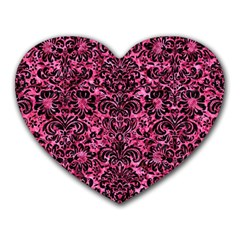 DMS2 BK-PK MARBLE (R) Heart Mousepads