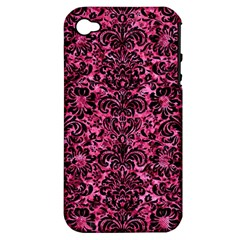 DMS2 BK-PK MARBLE (R) Apple iPhone 4/4S Hardshell Case (PC+Silicone)