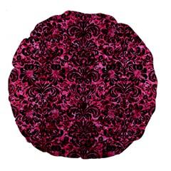 DMS2 BK-PK MARBLE (R) Large 18  Premium Round Cushions
