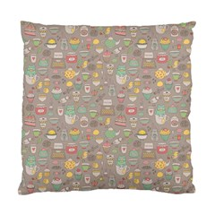 Tea Party Pattern Standard Cushion Case (Two Sides)