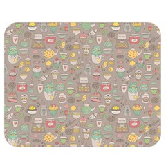 Tea Party Pattern Double Sided Flano Blanket (Medium)