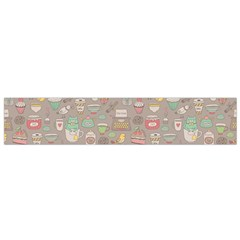 Tea Party Pattern Flano Scarf (Small)