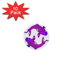 Koi Carp Fish Water Japanese Pond 1  Mini Buttons (10 pack)