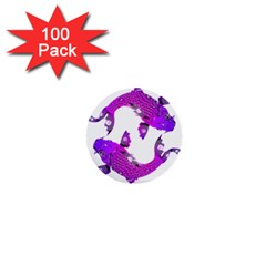 Koi Carp Fish Water Japanese Pond 1  Mini Buttons (100 pack)
