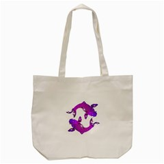 Koi Carp Fish Water Japanese Pond Tote Bag (Cream)