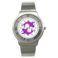 Koi Carp Fish Water Japanese Pond Stainless Steel Watch